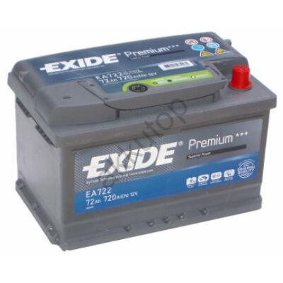 EXIDE Premium 72 Ah jobb+ EA722