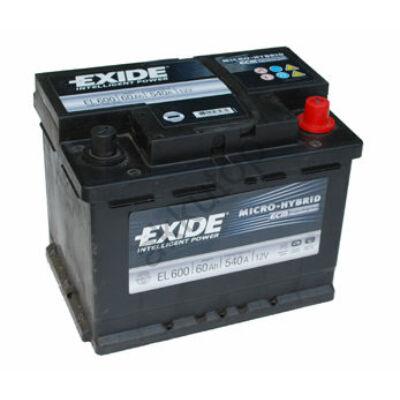 EXIDE Start-Stop 60 Ah jobb+ EL600