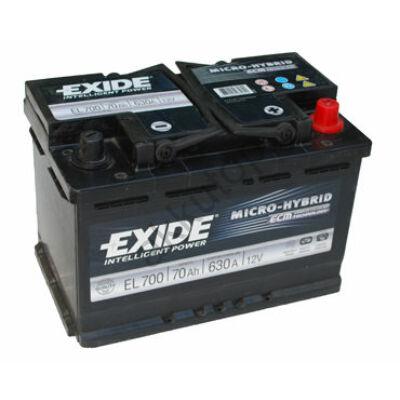 EXIDE Start-Stop 70 Ah jobb+ EL700