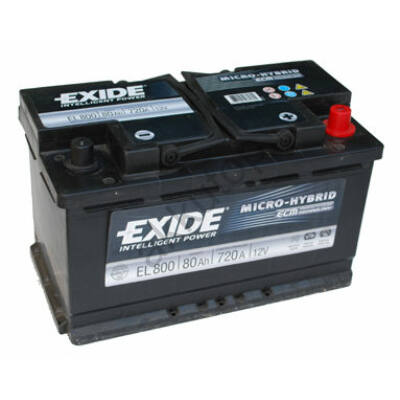 EXIDE Start-Stop 80 Ah jobb+ EL800 akkumulátor