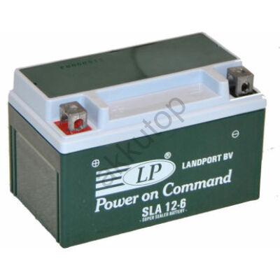 Landport 12V 6 Ah AGM+SLA bal+ ( YTX7A-4, SLA 12-6 ) akkumulátor