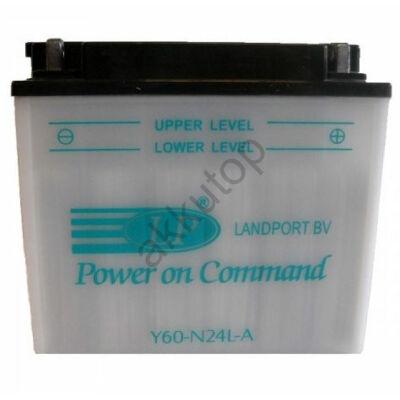Landport 12V 28 Ah jobb+ ( Y60-N24L-A ) akkumulátor