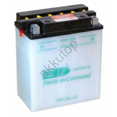 Landport 12V 12 Ah jobb+ ( YB12AL-A2 ) akkumulátor