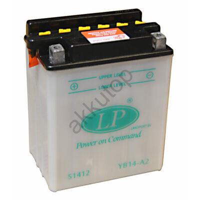 Landport 12V 14 Ah bal+ ( YB14-A2 ) akkumulátor