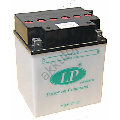 Landport 12V 30 Ah jobb+ ( YB30CL-B ) akkumulátor