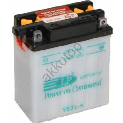 Landport 12V 3 Ah jobb+ ( YB3L-A ) akkumulátor
