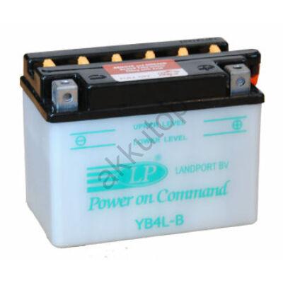 Landport 12V 4 Ah jobb+ ( YB4L-B ) akkumulátor
