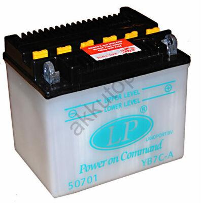 Landport 12V 7 Ah jobb+ ( YB7C-A ) akkumulátor