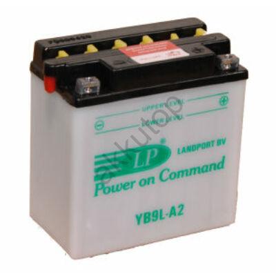 Landport 12V 9 Ah jobb+ ( YB9L-A2 ) akkumulátor