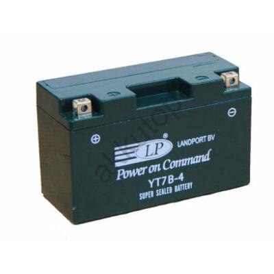 Landport 12V 6,5 Ah AGM+SLA bal+ ( YT7B-4 ) akkumulátor