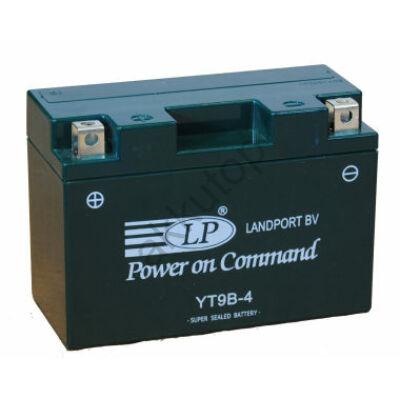 Landport 12V 8 Ah AGM+SLA bal+ ( YT9B-4 ) akkumulátor