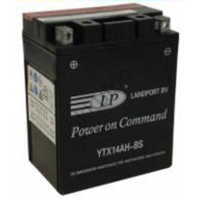 Landport 12V 12 Ah AGM bal+ ( YTX14AH-BS ) akkumulátor