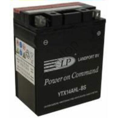 Landport 12V 12 Ah AGM jobb+ ( YTX14AHL-BS ) akkumulátor
