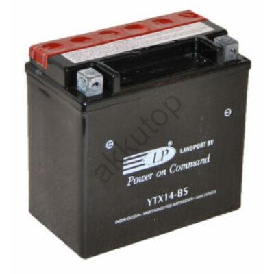 Landport 12V 12 Ah AGM bal+ ( YTX14-BS ) akkumulátor