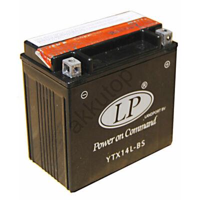 Landport 12V 12 Ah AGM jobb+ ( YTX14L-BS ) akkumulátor