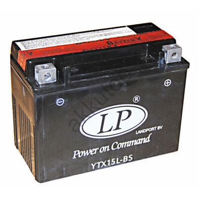 Landport 12V 12 Ah AGM jobb+ ( YTX15L-BS ) akkumulátor
