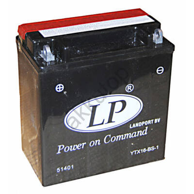 Landport 12V 14 Ah AGM bal+ ( YTX16-BS-1 ) akkumulátor