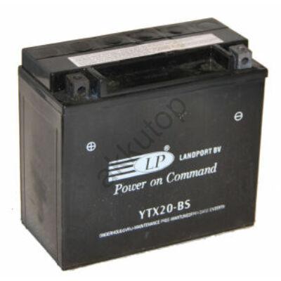 Landport 12V 18 Ah AGM bal+ ( YTX20-BS ) akkumulátor