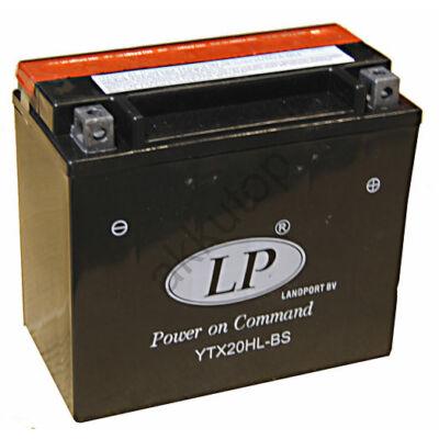 Landport 12V 18 Ah AGM jobb+ ( YTX20HL-BS ) akkumulátor