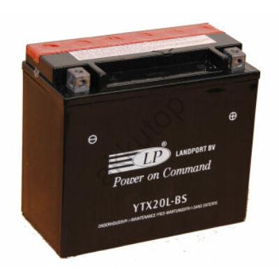 Landport 12V 18 Ah AGM jobb+ ( YTX20L-BS ) akkumulátor
