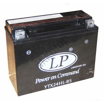 Landport 12V 24 Ah AGM jobb+ ( YTX24HL-BS ) akkumulátor