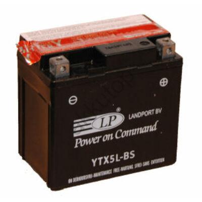 Landport 12V 4 Ah AGM jobb+ ( YTX5L-BS ) akkumulátor