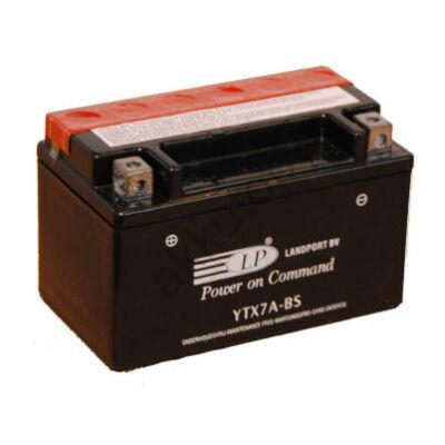 Landport 12V 6 Ah AGM bal+ ( YTX7A-BS ) akkumulátor