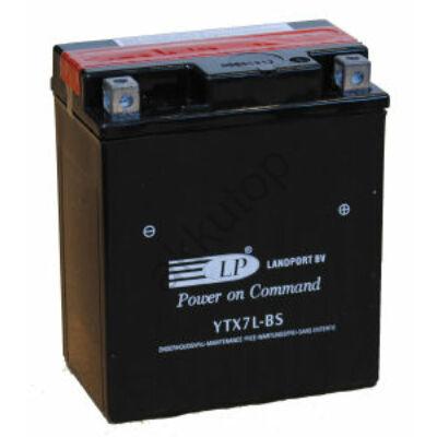 Landport 12V 6 Ah AGM jobb+ ( YTX7L-BS ) akkumulátor