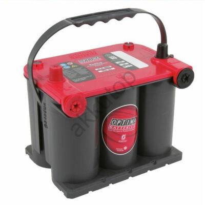 Optima Red Top 44 Ah bal+ (normál és oldalcsatlakozó) akkumulátor