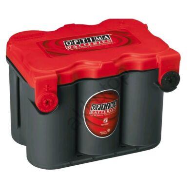 Optima Red Top 50 Ah bal+ (oldalcsatlakozó) akkumulátor