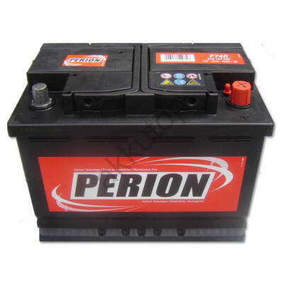 Perion 74 Ah jobb+ akkumulátor