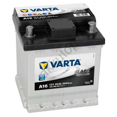 Varta BLACK dynamic 40 Ah jobb+ (Punto) 5404060343122 akkumulátor