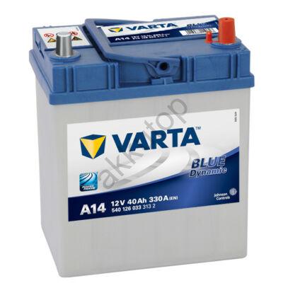 Varta BLUE dynamic 40 Ah jobb+ (vékony sarus) 5401260333132 akkumulátor