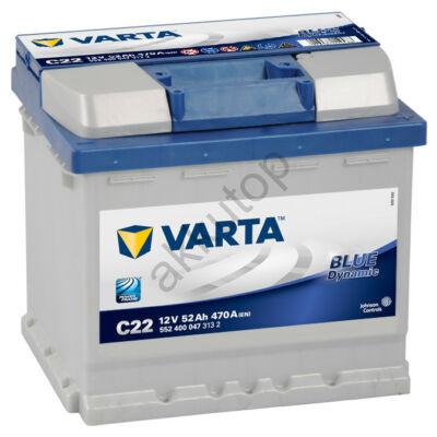 Varta BLUE dynamic 52 Ah jobb+ 5524000473132 akkumulátor