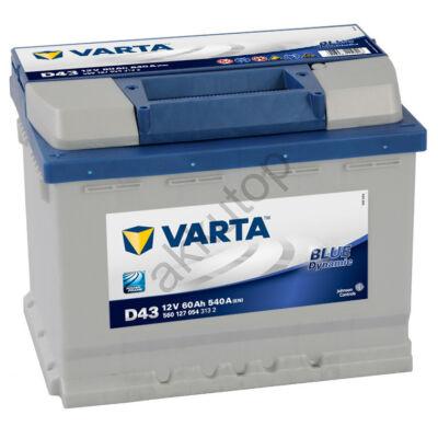 Varta BLUE dynamic 60 Ah bal+ 5601270543132 akkumulátor