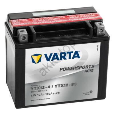 Varta Powersports AGM 10 Ah YTX12-BS  akkumulátor