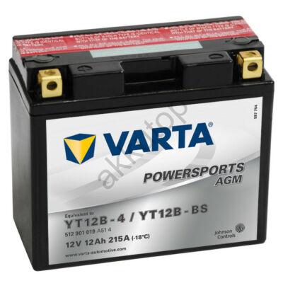 Varta Powersports AGM 12 Ah  ( YT12B-4   YT12B-BS )
