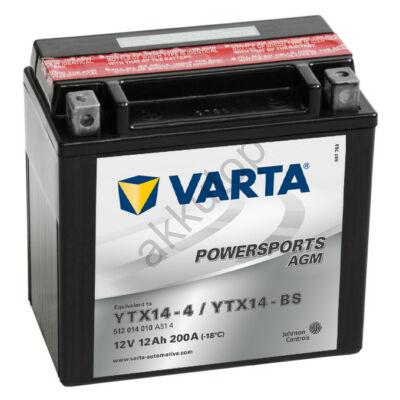 Varta Powersports AGM 12 Ah  ( YTX14-4   YTX14-BS )