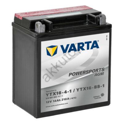 Varta Powersports AGM 14 Ah  ( YTX16-4-1   YTX16-BS-1 )