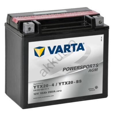 Varta Powersports AGM 18 Ah  ( YTX20-4   YTX20-BS )