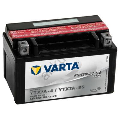 Varta Powersports AGM 6 Ah  ( YTX7A-4   YTX7A-BS )
