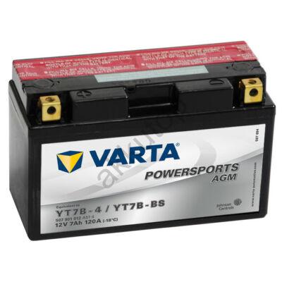 Varta Powersports AGM 7 Ah  ( YT7B-4   YT7B-BS )