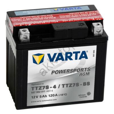 Varta Powersports AGM 5 Ah  ( YTZ7S-4   YTZ7S-BS ) akkumulátor