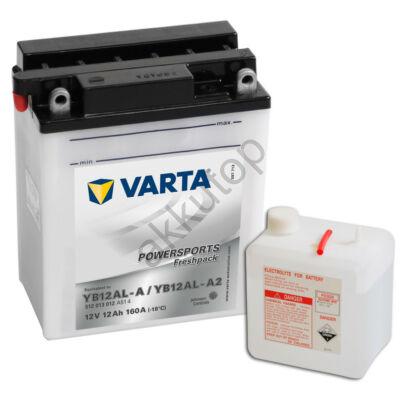 Varta Powersports Freshpack 12 Ah  ( YB12AL-A   YB12AL-A2 )