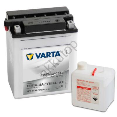 Varta Powersports Freshpack 14 Ah  ( 12N14-3A   YB14L-A2 ) akkumulátor