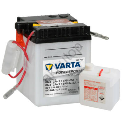 Varta Powersports Freshpack 6V 4 Ah  ( 6N4-2A-2   6N4-2A-4   6N4-2A-7   6N4A-2A-4 )