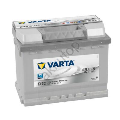 Varta SILVER dynamic 63 Ah jobb+ 5634000613162 akkumulátor