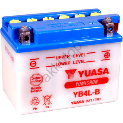 YUASA 12V 4 Ah YB4L-B jobb+ akkumulátor