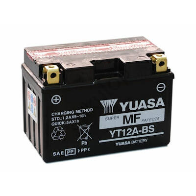 YUASA 12V 10 Ah YT12A-BS bal+ AGM akkumulátor
