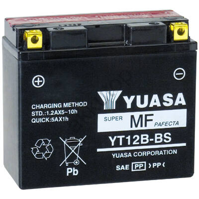YUASA 12V 10 Ah YT12B-BS bal+ AGM